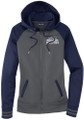 WIAA 2019 State Track & Field Ladies Full Zip Hoodie- Dark Smoke/ Navy