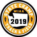 WIAA 2019 State Champion Track & Field Patch