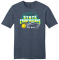 WIAA State 2019 Tennis Short Sleeve Tee- Heather Navy