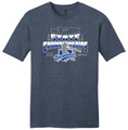 WIAA State 2019 Baseball Short Sleeve Tee- Heathered Navy