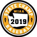 WIAA 2019 State Champion Baseball Patch