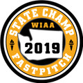 WIAA 2019 State Champion Softball Patch