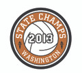 2013 State Champion Patch - Volleyball