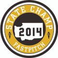 State 2014 Champ Patch - Fastpitch