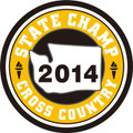 2014 State Champ Cross Country Patch