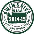 WIAA State  Swim & Dive Patch 2014-15
