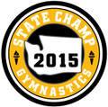 State Gymnastics 2015 Champ Patch