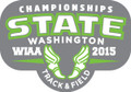State Track & Field 2015 Metal Pin