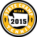 State 2015 Tennis Champ Patch