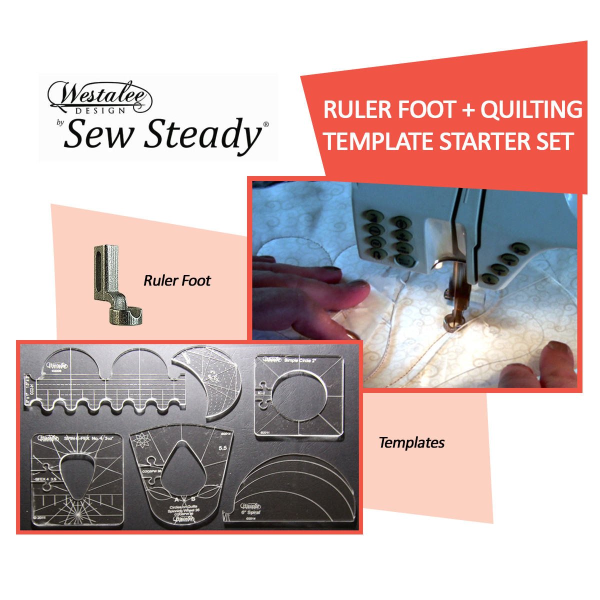 Sew Steady Westalee Quilting Foot Amp Template Starter
