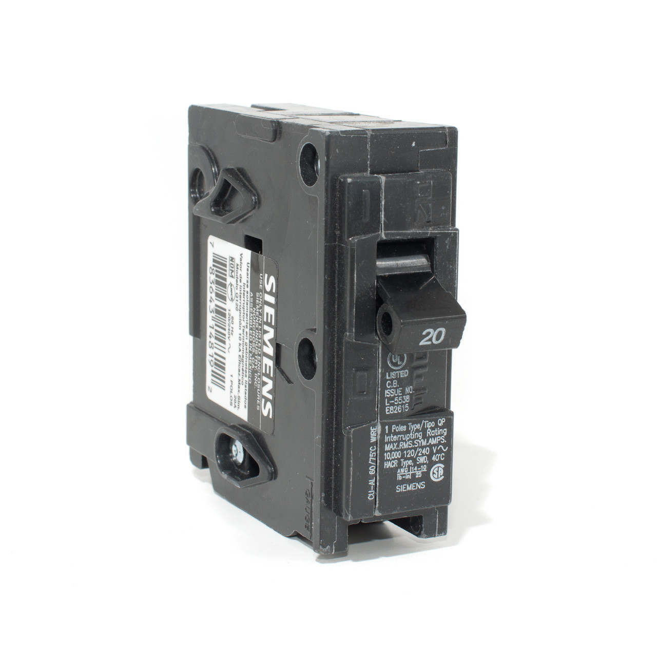 Push Button Circuit Breaker 3 Pole All Kind Of Wiring Diagrams 5 Amp Siemens 20a Single On Tremtech Electrical Systems Inc Resettable