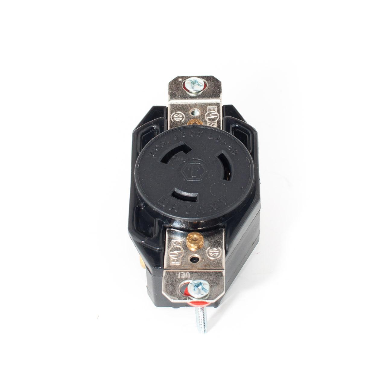 l6 20 2p3w 20a 250v twist lock receptacle tremtech. Black Bedroom Furniture Sets. Home Design Ideas