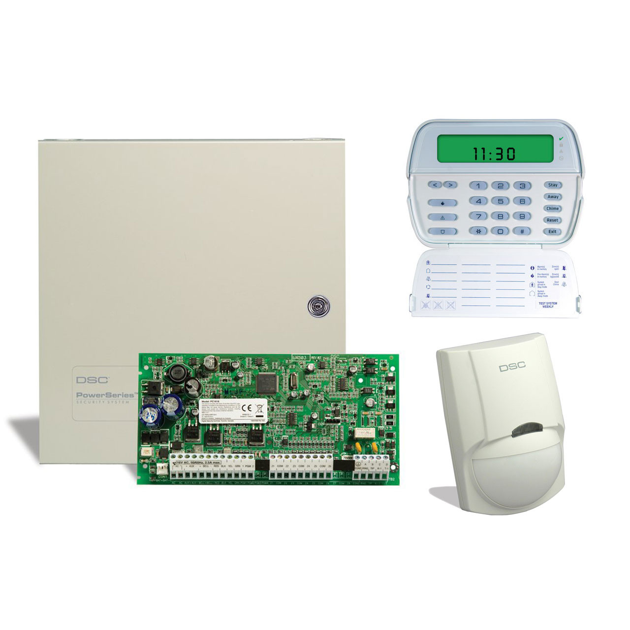 Dsc Alarm Pk5500 User Manual Basic Instruction Security System Wiring Diagram 1550 6 Zone Kit With Keypad And Motion Detector Tremtech Electrical Systems Inc 433 1500