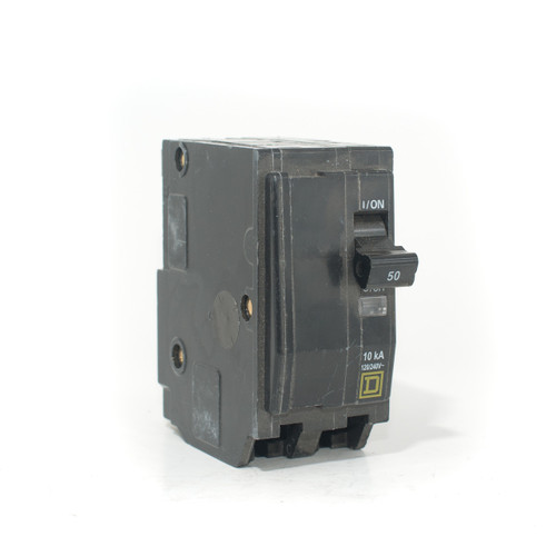 Square D 50A Two Pole Push-On Breaker