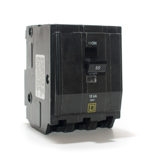 Square D 50A Three Pole Push-On Breaker