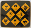Australian Road Sign Coasters - set of 6