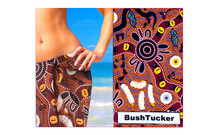 Cool cotton sarong with a great Aboriginal art design. Made in Australia