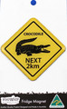 Crocodile Road Sign Magnet