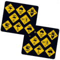 Two Road Sign Coasters