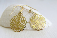[Sample] 14k Gold Filigree Earrings