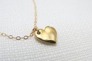 [Sample] Gold Heart Necklace