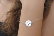[Sample] Silver Disc Bracelet