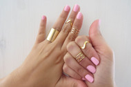 [Sample] Set of 9 Gold Stacking Rings