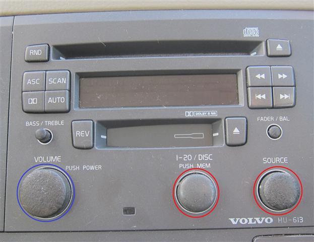Replacement Volvo Hu613 Radio Knobs Voluparts Online Storerhstorevoluparts: Volvo V70 Radio Volume Control At Gmaili.net