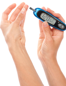 Photo of a blood glucose monitor