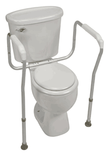 Photo of a toilet seat riser