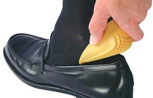 Photo of heel cups in a shoe