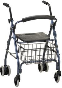 Photo of a four-wheeled walker