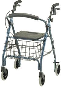 Photo of a four wheeled walker