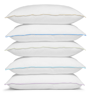 Photo of a stack of pillows