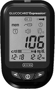 Glucocard Expression Blood Glucose Meter
