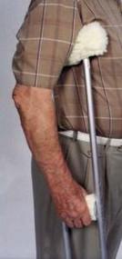 Sheepette Crutch Cover Set