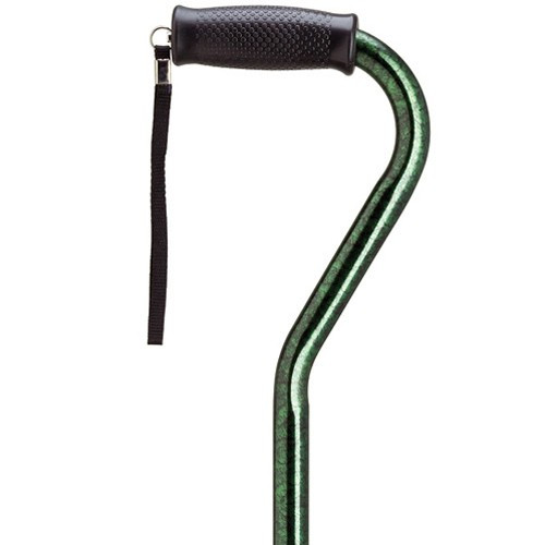 Harvy Aluminum Offset Cane - Green Granite