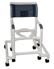 MJM Shower Chair with Deluxe Elongated Open Front Seat and Outriggers