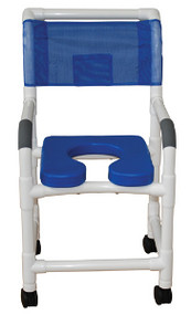 MJM Shower Chair with Soft Seat Deluxe Elongated