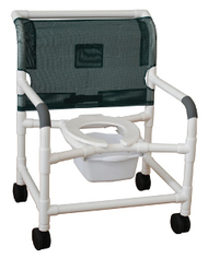 """MJM Bariatric 26"""" Shower Chair with Elongated Open Front Seat"""
