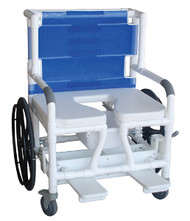 "MJM Bariatric 26"" Shower Commode Transfer Chair"