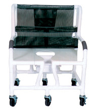 "MJM Bariatric 30"" Shower Chair with Full Support Seat and Square Pail"