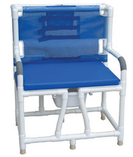 MJM Bariatric Bedside Commode Chair with Cushion Seat