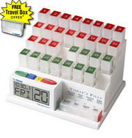 The MedCenter System Monthly Medication Organizer and Talking Reminder