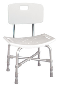 Drive Deluxe Bariatric Shower Chair with Cross-Frame Brace with Back