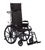 "Invacare 9000 XT Wheelchair - 18"" x 17"" with Fixed Height Conventional Desk Arm and Reclining Back"