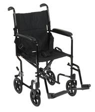 "Drive Lightweight Transport Wheelchair - 19"", Black"