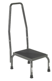 Drive Footstool with Non-Skid Rubber Platform - with Handrail
