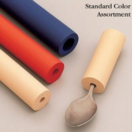 "North Coast Colored Foam Handle Tubing - 1/4"" Hole in Tan (Six Pieces)"
