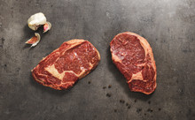 32 DAY DRY AGED HERITAGE BREED GRASS FED RIB EYE STEAK - 2 x 250g